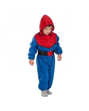 Costume Spiderman 1/2 Anni C/Cappuccio