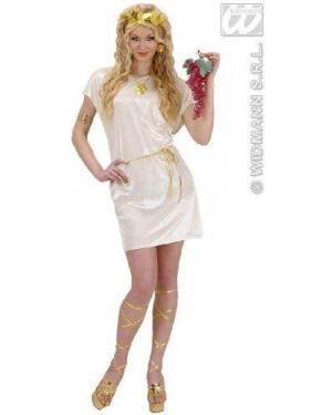 Costume Tunica Beige L Con Cintura Oro