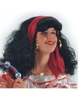 carnival toys 02677 parrucca zingara gitana con foulard