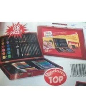 giocheria rdf50089 creamania valigetta colori in legno 68 pezzi