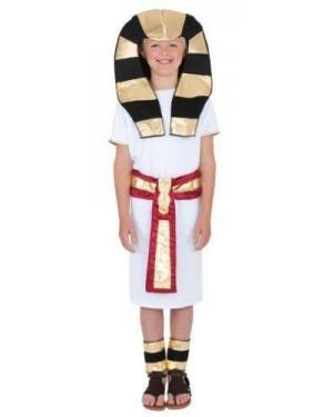 Costume Ragazzo Egiziano M Robe Cinghia Copri C