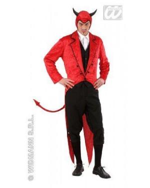 Costume Lucifero Diavolo L In Velluto Frac-