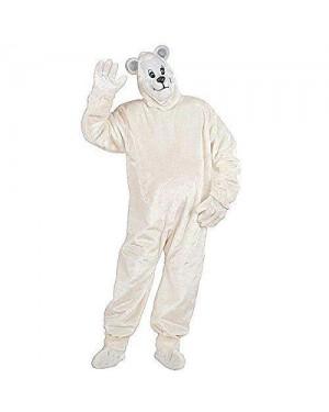 Costume Orso Polare In Peluche Con Guanti, Coprisc