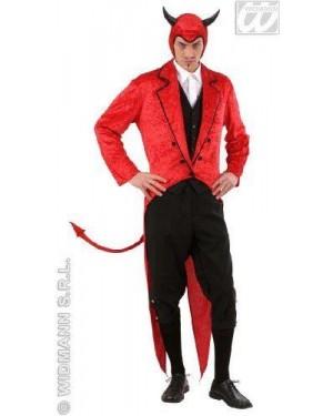 Costume Lucifero Diavolo Xl In Velluto Frac