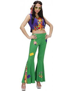 Costume Woodstock Hippie Girl L Top,Gilet,Pant,