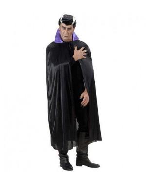 WIDMANN 4495P mantelli neri con colletto viola in raso 136cm