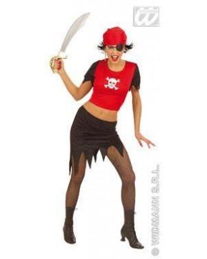 Costume Piratessa M Con Fibre Ottiche