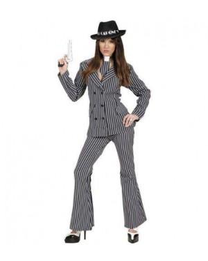 Costume Gangster Donna S Giacca-Pantaloni-Cr