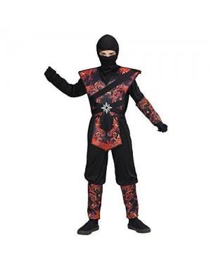 WIDMANN 05637 costume ninja drago fiamme 8/10 140cm