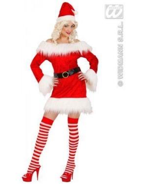 Costume Mamma Natale M In Velluto E Peluche