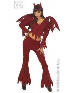 Costume Diavola Pant. E Ali Teenag Cm170 Ros@