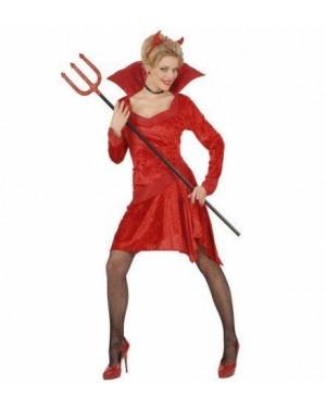 Costume Diavolessa M In Velluto Con Corna