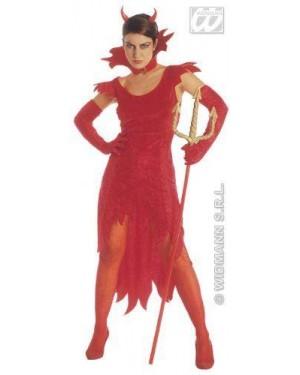 Costume Diavola Ciniglia + Guanti S