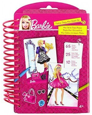 STARTRADE 22305 barbie mini fashion design sketch adesivi e matite
