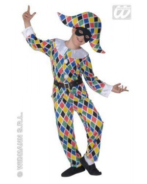 WIDMANN 55717 costume arlecchino 8/10 cm 140