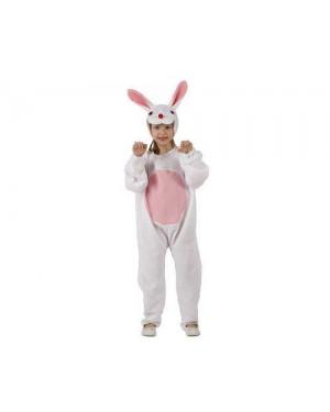 ATOSA 95531 costume da coniglietto, bianco. 5-6