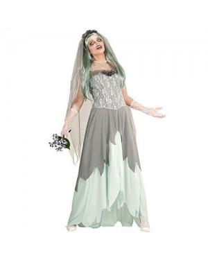 WIDMANN  costume sposa zombie l (vestito, velo con fiori,