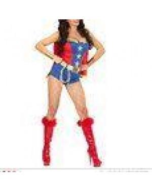 WIDMANN 98591 costume super powers girl s vestito, cintura