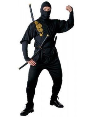 Costume Ninja L Casacca Pantaloni Cintura