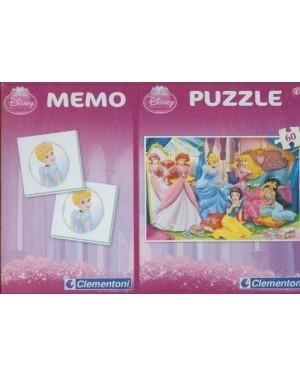 CLEMENTONI 07901 puzzle 60+memo pocket principesse cf1