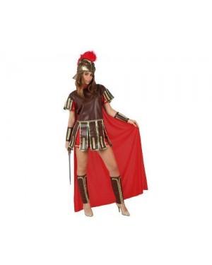 Costume Da Guerriera Romana Rosso Adulto M-L