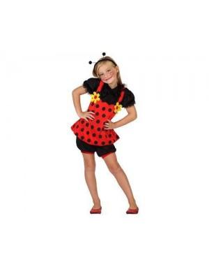 Costume Coccinella, Bambina T. 4
