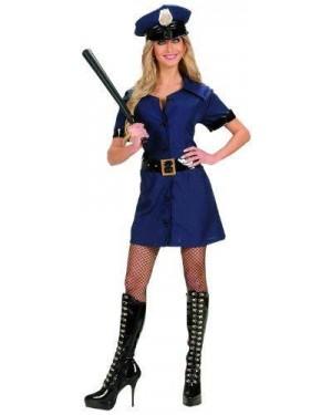 Costume Poliziotta S Vestito,Cintura,Cappello
