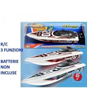 RE.ELTOYS 1477 motoscafo r/c destriero sport rosso