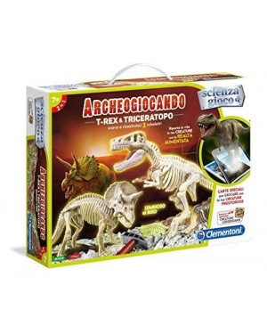 CLEMENTONI 13984.2 clement archeo trex triceratopo