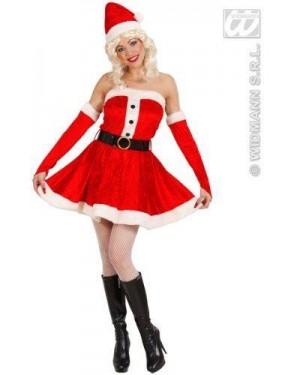 Costume Mamma Natale Xl In Velluto