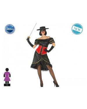 ATOSA 53933 costume zorro donna mascherata t-1