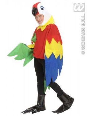 WIDMANN 42557 costume pappagallo 8/10 cm 140