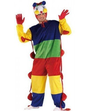 CLOWN 71239 costume bruco l in peluche