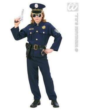 WIDMANN 73166 costume poliziotto in tessuto pesante 128cm
