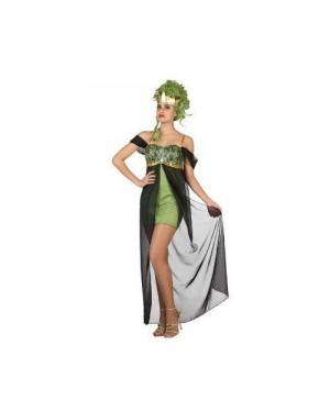Costume Dea Greca Tg1 Xs S Medusa Serpente