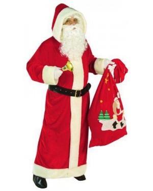 Costume Babbo Natale Super Lusso Xl In Velluto Con