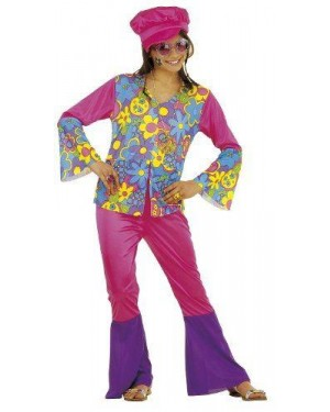 Costume Hippie Bambina 11/13 Cm158