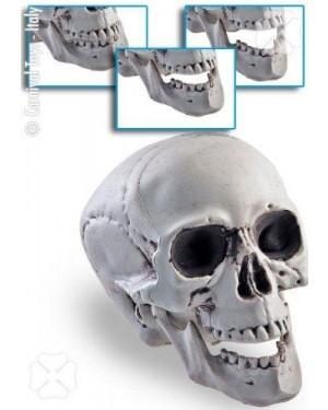 CARNIVAL TOYS 07735 teschio scheletro con mandibola mobile h