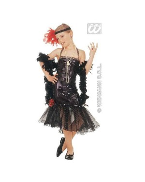 WIDMANN 3797C costume in paillettes 4/5 5/7 nero glamour