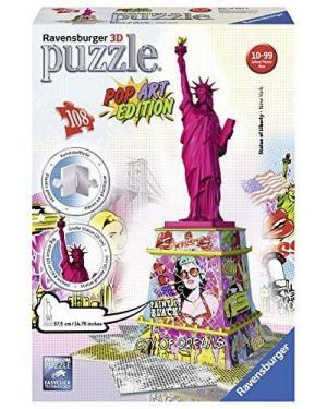 RAVENSBURGER 12597 puzzle 3d pop art - statua liberta