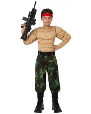 Costume Militare Muscoloso Bambino T. 3