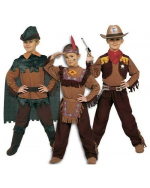 Costume Robin Indiano Cowboy 6/8 Tre In Uno