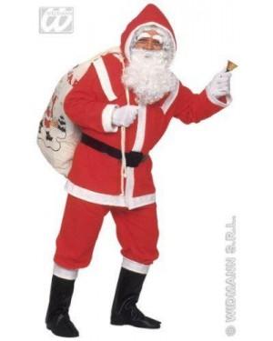 Costume Babbo Natale M Con Accessori E Barba