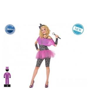 ATOSA 53893 costume pop star t-2