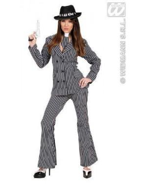 Costume Gangster Donna L Giacca-Pantaloni-Cr