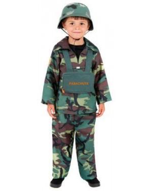SMIFFY S S38662M costume soldatop m army boy, top, pantaloni, zaino