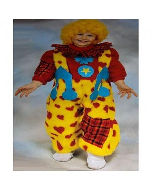 Costume Clown 6/12 Mesi Peluche