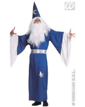 Costume Mago Con Collare S Cint. E Cappello