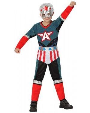 Costume Super Eroe, Bambino T3 7-9 Anni