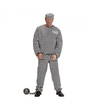 WIDMANN 56512 costume carcerato m in tessuto lusso